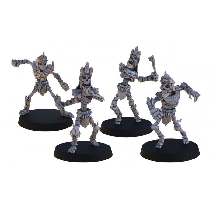 Pack 4 Skeletons
